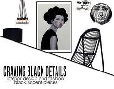 craving black details interior design and fashion