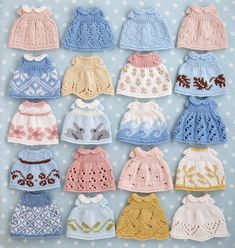 New Dress Pattern, Baby Dress Patterns, Doll Clothes Patterns, Clothing Patterns, Knitting Dolls Clothes, Knitted Dolls, Yarn Dolls, Crochet Doll Clothes, Knitted Animals