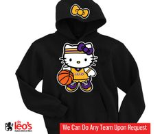 Hello Kitty Los Angeles Lakers Hoodie  2 Prints by DALEOS on Etsy, $32.00