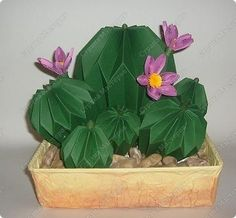 Master Class, Handicraft, product Quilling, Origami: Paper cactus bloomed on March 8, Mother's Day, Birthday, Teacher's Day. Photo 1