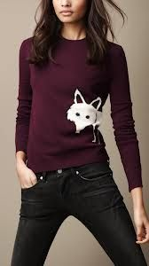 Burberry fox sweater