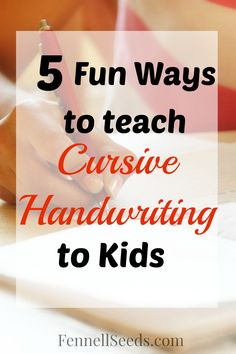 Our school system no longer teaches cursive handwriting. Here are some fun ways I found to teach cursive handwriting at home this summer.