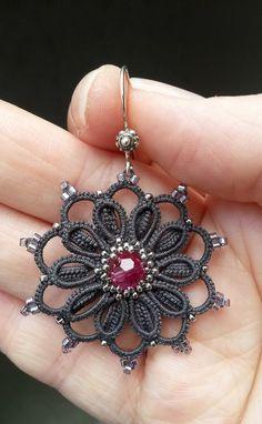 Frivolité à la navette: Encore une petite BO -- Earrings  #tatting #jewelry