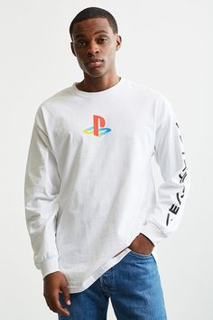 Slide View: 2: PlayStation Long Sleeve Tee