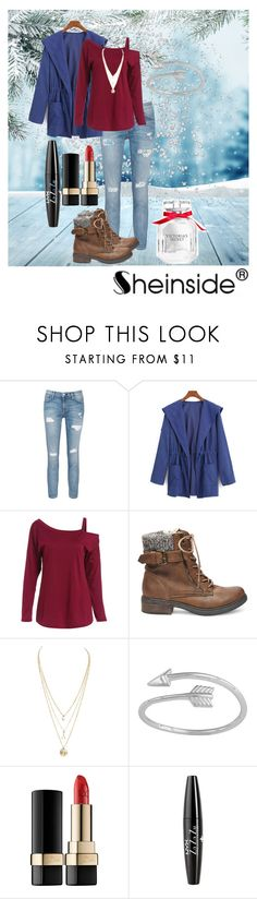 """Sheinside"" by zoeholmquist on Polyvore featuring Current/Elliott, Steve Madden, Dolce&Gabbana, NYX and Victoria's Secret"