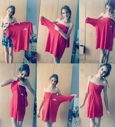 Cute way to style a t-shirt!