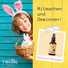 Massageöl für Kinder zu Gewinnen! Passend zu Ostern 🐰 verlost Yaëlle 5 Heldenkraft Massageöle! 🤗 Tricks, Soap, Personal Care, Bottle, Family Life, Apothecary, Parenting, Easter Activities, Kids