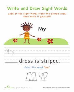 kindergarten sight words worksheet printable worksheets. Black Bedroom Furniture Sets. Home Design Ideas