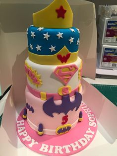 Image result for super hero cakes for girls
