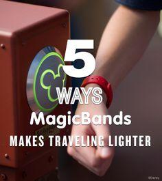 5 Ways MagicBands Makes Traveling Lighter at Walt Disney World!