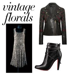 """Vintage florals"" by dtlpinn on Polyvore featuring Elie Saab, Christian Louboutin and vintage"
