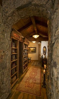 Stone archway and hallway | Home on the Range, Steamboat Springs, CO