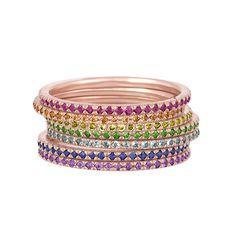 Rainbow Stack Bands – Stephanie Gottlieb Fine Jewelry