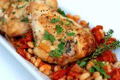 Gluten Free Tuscan Chicken and White Beans Recipe