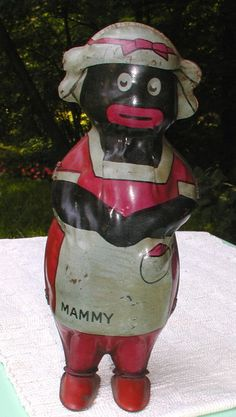 1920-30s Mammy Lithographed Tin Wind Up Walker Toy