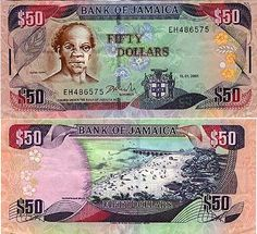 Money From Different Countries | jamaica currency | Jamaican money is very colorful, filled with ..