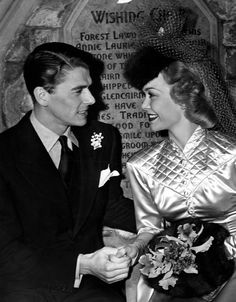 vintage photos of ronald reagan | Ronald Reagan, Jane Wyman Photograph