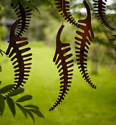 hhhhmmm, thinking these could make a gorgeous wind chime... they call them Rusty Fossil, but I think they look like rusted ferns