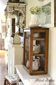 Faded Charm: ~Primitive Pie Cupboard~