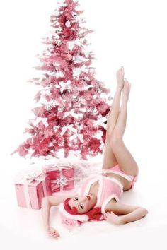 Pink Christmas Pinup