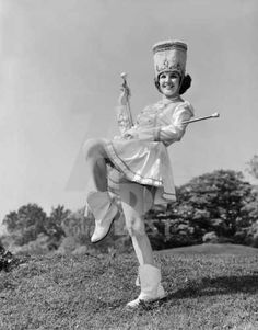 A time when majorettes knew how to twirl a baton - and so did a lot of children!