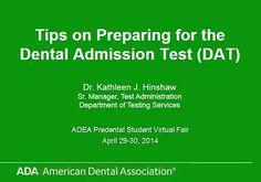 Tips on Preparing for the Dental Admission Test (DAT)   Odonto-TV