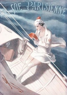 Navigating sailor girl- La Vie Parisienne n°25 (1927)