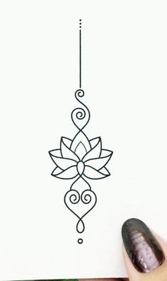 Kritzelei Tattoo, Unalome Tattoo, Doodle Tattoo, Sternum Tattoo, Mandala Tattoo, Tattoo Drawings, Mini Tattoos, Flower Tattoos, Body Art Tattoos