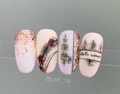 Toe nails winter holiday 41 ideas for 2019 Black Acrylic Nails, Best Acrylic Nails, Classy Nails, Stylish Nails, New Year's Nails, Hair And Nails, Gorgeous Nails, Pretty Nails, Christmas Gel Nails