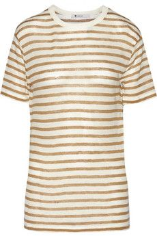 T by Alexander Wang Striped jersey T-shirt | THE OUTNET
