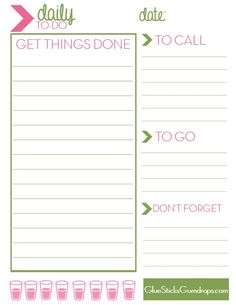 239 Best Free Printable To Do Lists U0026 Lists Images On Pinterest In 2018 |  Calendar, Organizers And Planner Ideas