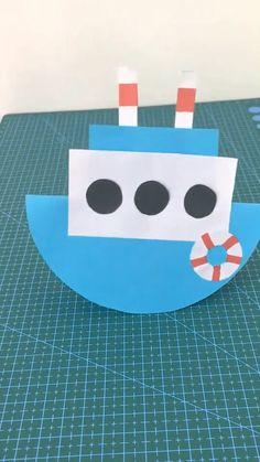 Instruções Origami, Paper Crafts Origami, Paper Crafts For Kids, Christmas Crafts For Kids, Fun Crafts, Origami Butterfly, Summer Crafts For Toddlers, Toddler Crafts, Diy For Kids