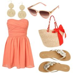 """""""Peach"""" by nevel on Polyvore"""
