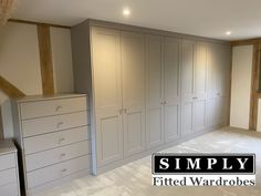 Painted in a stunning Cashmere. These shaler fitted wardrobes by Simply Fitted Wardrobes