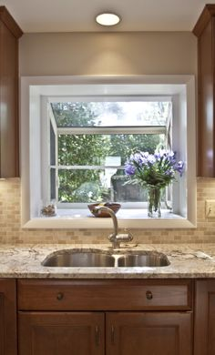With Ply Gem vinyl garden window over your kitchen sink you might