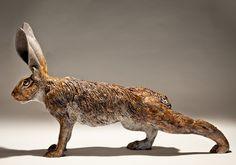 Hare Sculptures - Clay Animal Sculptures by Nick Mackman