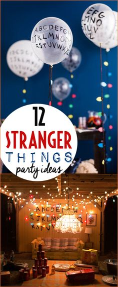 Host a Stranger Things birthday party or Halloween bash. Fun theme for a sweet 16 or rad tween party. Upside down ideas with the perfect party decor. Celebrate all your favorite characters, Eleven, Will, Mike, Dustin, Lucas, Steve, Nancy...