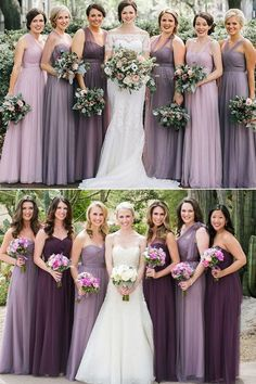 different shades of purple bridesmaid dresses mix n match weddings bridesmaidsbridesmaids wedding mismatched Lavender Bridesmaid Dresses, Mismatched Bridesmaid Dresses, Wedding Bridesmaids, Wedding Attire, Bridesmaid Dresses Different Colors, Eggplant Bridesmaid Dresses, Plum Dresses, Bridesmaid Bouquets, Azazie Bridesmaid Dresses