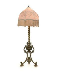 Antique silk lamp shade google love the colors antique a vintage ornate brass adjusting floor lamp aloadofball Gallery