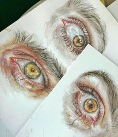 Drawing eyes watercolor artists Ideas for 2019 Kunst Inspo, Art Inspo, Art Sketches, Art Drawings, Gcse Art Sketchbook, Drawing Eyes, Watercolor Artists, Watercolor Eyes, Art Hoe