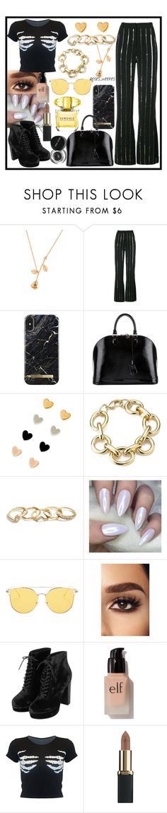 """Outfit 42"" by cliffordthefuqboi ❤ liked on Polyvore featuring Bobbi Brown Cosmetics, Thierry Mugler, Louis Vuitton, GUESS, Topshop, e.l.f., L'Oréal Paris and Versace"