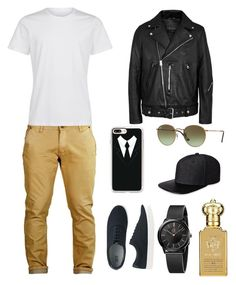 """Untitled #252"" by elma-alibasic ❤ liked on Polyvore featuring Acne Studios, Uniqlo, Calvin Klein, Casetify, Ray-Ban, Gents and Clive Christian"