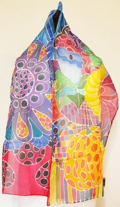 Silk Scarf by Social Fashion Monster Email me: acortadab@gmail.com 📩