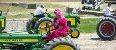 Tractor Square Dancing Men Dressed as Women