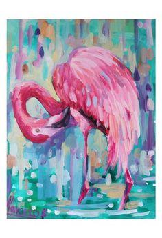 Flamingo wall art flamingo prints by LenaNavarroArt Flamant rose art de mur flamingo estampes par LenaNavarroArt Flamingo wall art flamingo prints by LenaNavarroArt Flamingo Painting, Flamingo Decor, Pink Flamingos, Pink Painting, Art Tropical, Pink Bird, Bird Art, Painting Inspiration, Art Projects