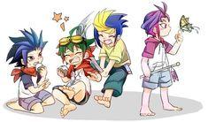 Yuto, Yugo, Yuri and Yuya Sakaki  Yugioh Arc-v