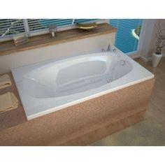 Avano AV3666PS Bermuda 65-1/4 Acrylic Soaking Bathtub for Drop-In Installations with Reversible Drain