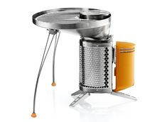 I must have this campstove/ phone charger.  Biolite Portable Grill uses no propane, just twigs from the campsite. Convert heat to electricity to charge your device while cooking a sweet outdoor meal.     PLEASE SANTA!!