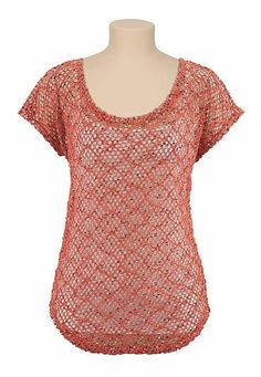 textured open stitch marled tee (original price, $26) available at #Maurices