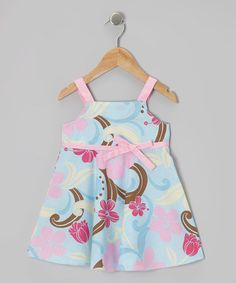 Take a look at this Blue & Pink A-Line Dress - Infant, Toddler & Girls by RJC Girls on #zulily today!